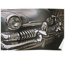 old chromed american car  Poster