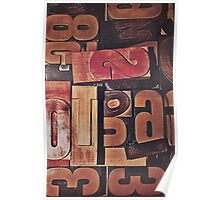 A collection of wood type Poster