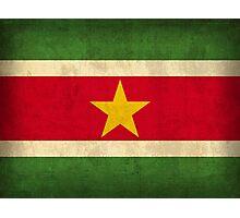 Suriname Flag Photographic Print