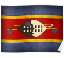 Swaziland flag Poster