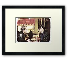 cafe. Framed Print