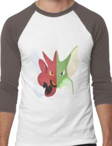 Syther #123 and Scizor #212 Men's Baseball ¾ T-Shirt