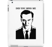 Moriarty - Did You Miss Me? iPad Case/Skin