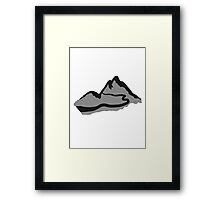 Hiking mountains beautiful Framed Print