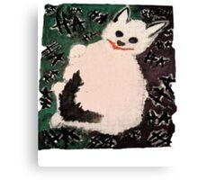 Joker Kitty Canvas Print