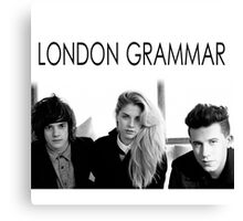 London Grammar band Canvas Print
