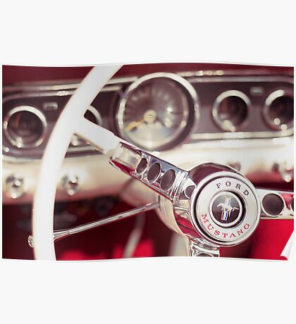 Ford Mustang Steering Wheel Poster