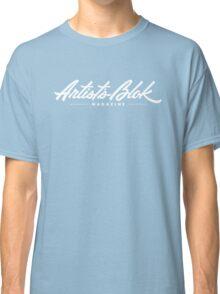 Artist's Blok Magazine Logo type -White Classic T-Shirt