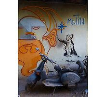 Street Art Scooter (Mister Tin) by opensea