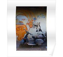 Street Art Scooter (Mister Tin) Poster