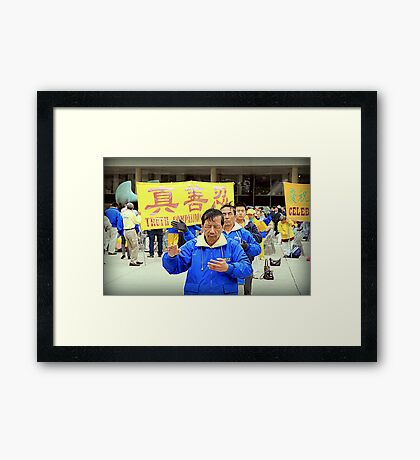 Falun Gong Practitioners Framed Print