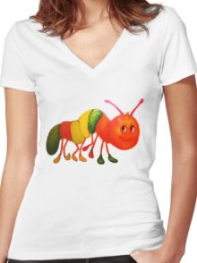 Caterpillar with shoes Women's Fitted V-Neck T-Shirt