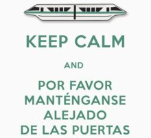 Monorail- Keep Calm (Teal) by Margybear