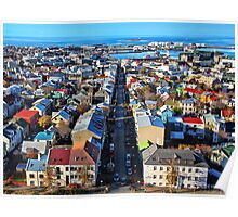 Reykjavik Cityscape Panorama Poster