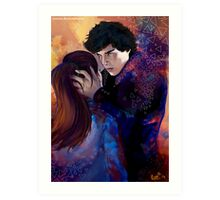 Sherlock and Molly Art Print