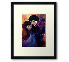Sherlock and Molly Framed Print