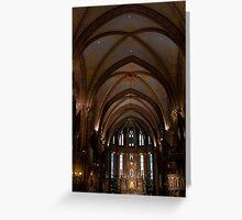 St Matthias Interior Longview Greeting Card