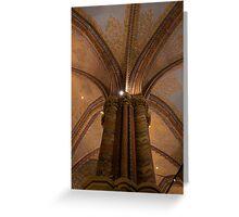 St Matthias Interior Column Detail Greeting Card