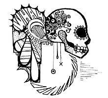 Wham!  Grungy Skull by stuffnotthings