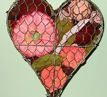 Heart Shaped Wall Decoration by kathrynsgallery