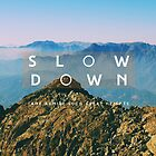 Slow down by Constanza Caiceo