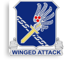 188th Infantry Regiment - Winged Attack Canvas Print
