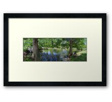 Small Town Park  Framed Print