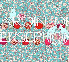 Jardin De Persephone in Turquoise by Donna Huntriss