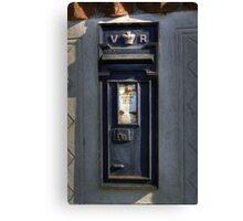 Victorian Post Box Canvas Print