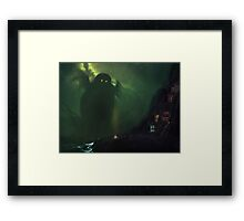 The Nearest Shore to R'lyeh Framed Print
