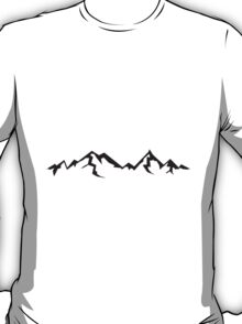 High beautiful mountains with shadow T-Shirt
