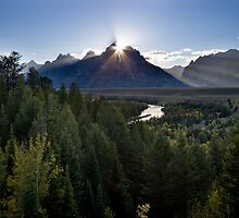 Snake River Overlook at Sunset by Spencer Dickson