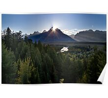Snake River Overlook at Sunset Poster