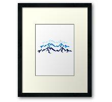 High beautiful mountains Framed Print