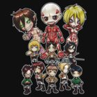Attack on Titan Chibi Group by Julia Lichty