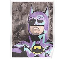 Batman 1989 portrait nes colors Poster