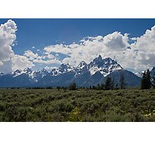 A Sunny Day at Grand Teton National Park Photographic Print