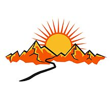 Mountain hiking trail and Sun by Style-O-Mat
