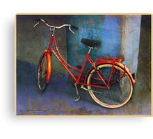 red bike in italy Canvas Print