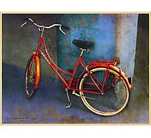 red bike in italy Photographic Print