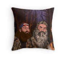 Family camp Throw Pillow