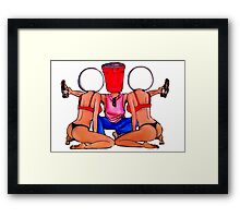 Beer Pong Party Framed Print