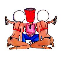 Beer Pong Party Photographic Print