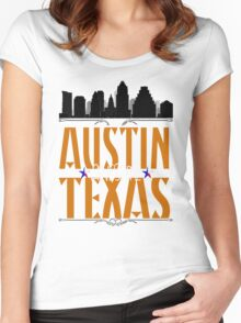 AUSTIN AWESOME TEXAS Women's Fitted Scoop T-Shirt