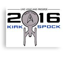 Vote Kirk & Spock 2016 Canvas Print