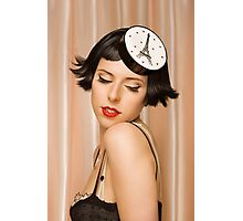 Young pretty women in vintage clothing Photographic Print