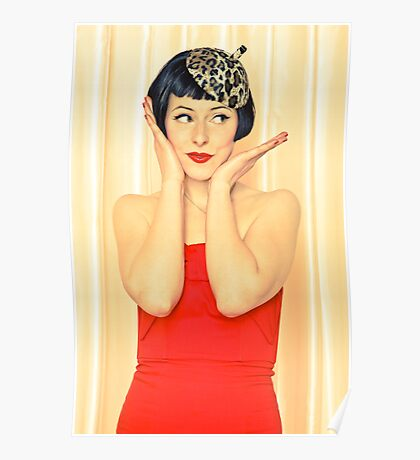 Beautiful woman with black hair Poster