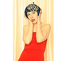 Pretty young woman in red Photographic Print
