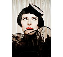 Lovely looking Girl with black hairs Photographic Print