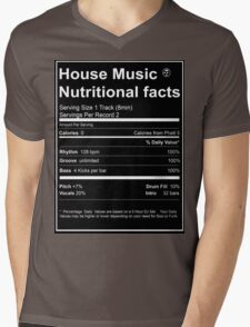 House Music Nutritional Facts Mens V-Neck T-Shirt